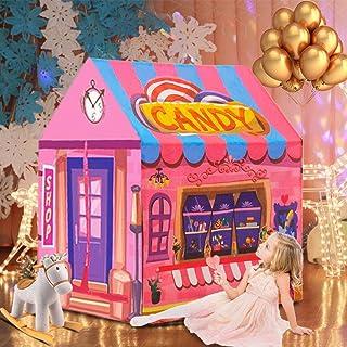 キッズテント テントハウス おもちゃハウス kids tent 女の子 折り畳み式 遊び小屋 室内用 お誕生日・クリスマスプレゼント キャンデーホーム ピンク