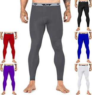Elite Sports Men's BJJ Spats Leggings Tights, Best Jiu Jitsu MMA no Gi spat Compression Pants for Men