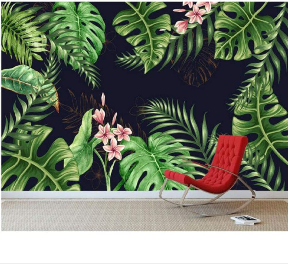 Zjxxm Custom Wallpaper Minimalistic Plant At the price Tv 2021new shipping free shipping Tropical Rainforest