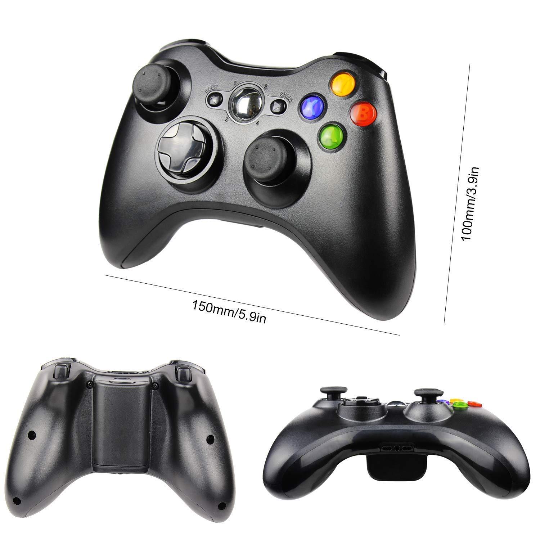 Diswoe Xbox 360 Inal/ámbrico Gamepad Controlador Joypad con Vibraci/ón Doble Ergonom/ía Windows 10//8.1//8//7//XP Bluetooth 10 Metros Mando Pare Microsoft Xbox 360