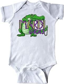 inktastic Mardi Gras Alligator with Beads Infant Creeper