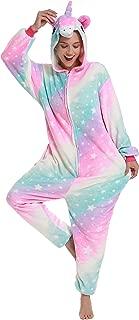 Adult Onesie Unicorn Pajamas- Plush One Piece Animal Cosplay Costumes Halloween Partywear