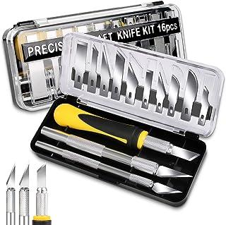 DIYSELF Knife Craft Knife Set, 3Pcs Hobby Knives with 10Pcs Hobby Knife Blades, Precision Knife Set for DIY Arts Cutting, ...