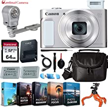 Canon PowerShot SX620 HS Digital Camera (Silver) w/Professional Editing Software + LED Video Light & Exclusive Accessory Bundle