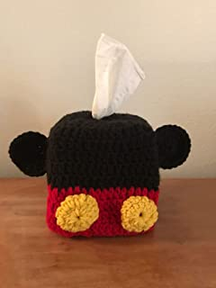 Handmade Crochet Tissue Box Cover Mickey Mouse