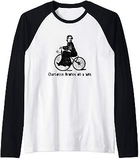 Charlotte Bronte on a Bicycle Charlotte Bronte Raglan Baseball Tee