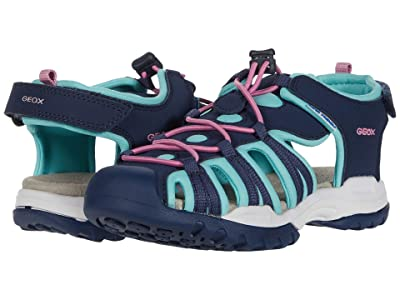 Geox Kids Borealis 9 (Little Kid/Big Kid) (Blue Azure) Girl