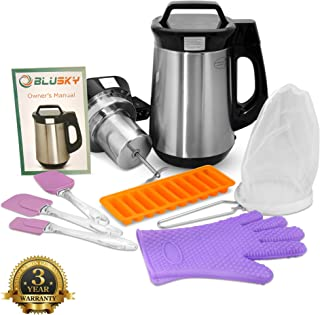 BluSky Butter Machine Butter Infuser Herbal Infuser Botanical Extractor Butter Brewer with Official Cookbook, Silicone Glove, Strainer (filter), 3 Silicone Spatulas and Silicon Butter Mold Tray