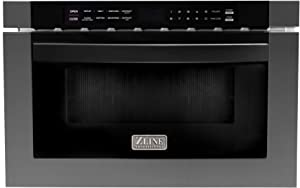 "ZLINE 24"" 1.2 cu. ft. Microwave Drawer in Black Stainless Steel"