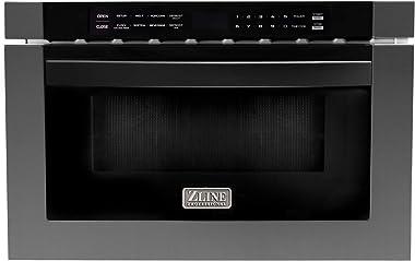 "ZLINE 24"" 1.2 cu. ft. Microwave Drawer in Black Stainless Steel"