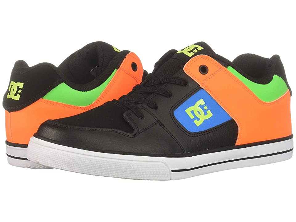 DC Kids Pure Elastic SE Glow (Little Kid/Big Kid) (Black Multi) Boys Shoes