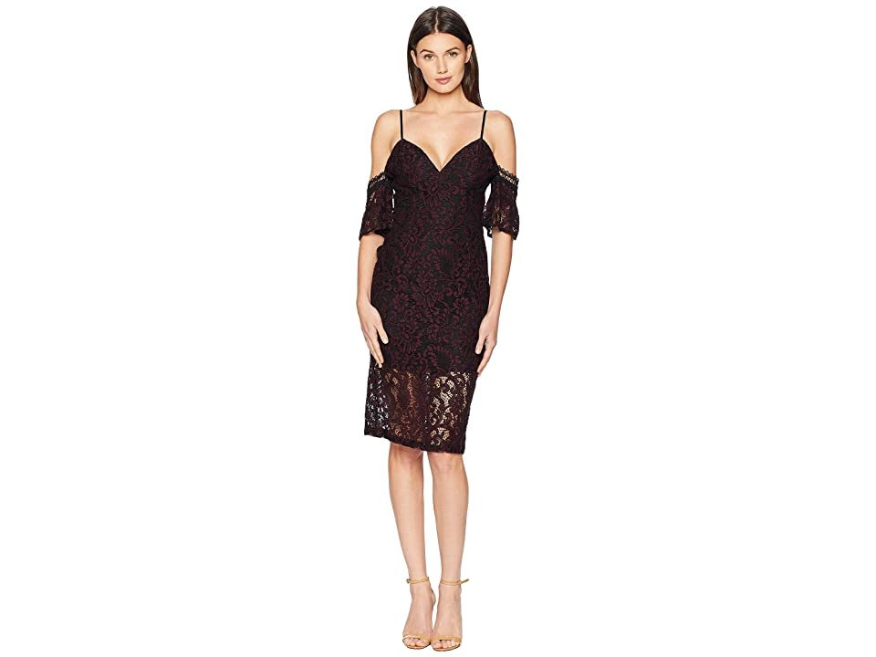 Bardot Taegen Midi Dress (Wine) Women
