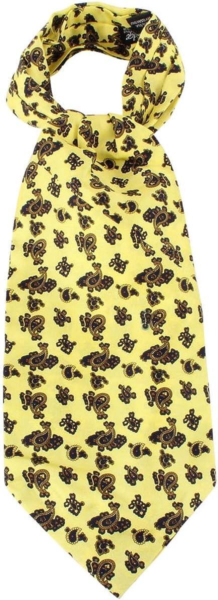 Knightsbridge Neckwear Mens Paisley Silk Cravat - Yellow