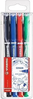 Fineliner Pen - STABILO SENSOR F Wallet of 4 (Assorted Colours)