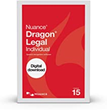 Dragon Legal Individual 15.0, Dictate Documents and Control your PC with Voice Recognition Software [PC Download]