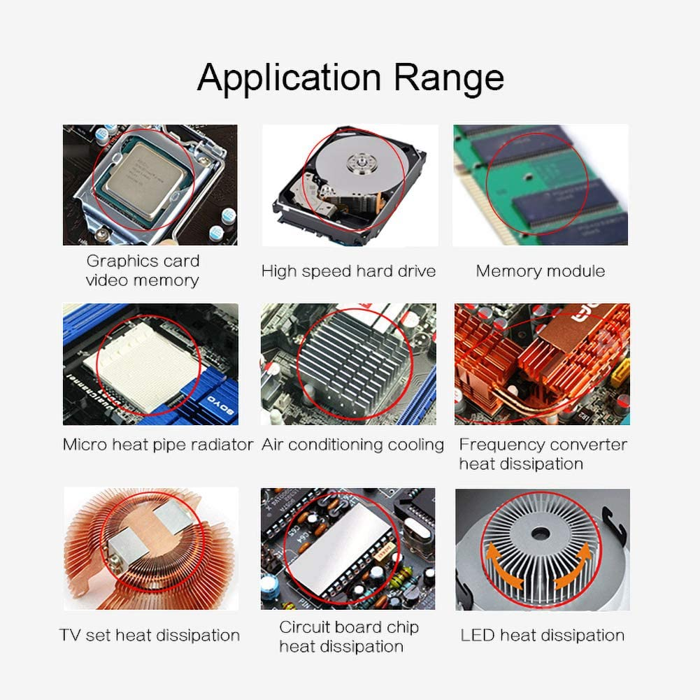 25g 1.93W Compuesto De Enfriamiento Pasta De Grasa Conductora T/érmica para CPU GPU 3.5cm X 3cm HY510 10 Whiie891203 Pasta T/érmica 1.37x 1.18 10g