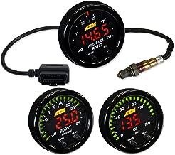 AEM X-Series 52mm UEGO A/F Ratio w/OBDII Gauge Set + Boost 35psi + Fuel or Oil Pressure 0-150psi