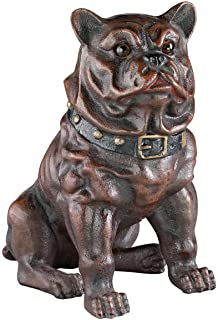 Design Toscano SP1347 Boss, The Sitting British Bulldog Collectors' Still Action Die-Cast Iron Coin Bank, Full Color