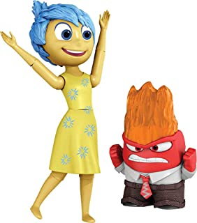 Disney Pixar Inside Out Anger & Joy Action Figures, Highly Posable with Authentic Detail, Collectible Movie Toy, Kids Gift...