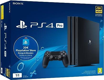 Playstation 4 Pro (PS4) - Consola de 1TB + 20 euros Tarjeta Prepago (Edición Exclusiva Amazon) - nuevo chasis G
