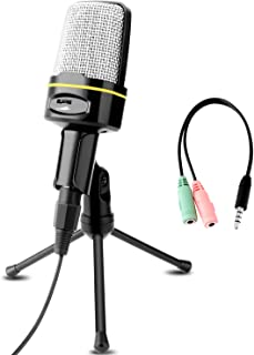 Professional Condenser Microphone, Venoro Plug & Play Home Studio Condenser Microphone with Tripod for PC, Computer, Phone for Studio Recording, Skype, Games, Podcast, Broadcasting (Black-C) …
