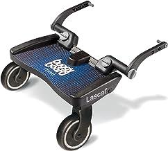 Lascal BuggyBoard Maxi, Kinderbuggy Trittbrett mit großer Stehfläche, Kinderwagen Zubehör für Kinder von 2-6 Jahren 22 kg, kompatibel mit fast jedem Buggy und Kinderwagen, blau
