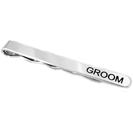 Mens Silver 4CM Slide On Tie Bar Stainless Steel Clasp Pin Wedding Clip GifD PT