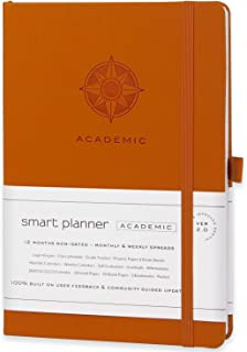 "$24 » Academic Planner - Daily, Weekly, and Monthly Scheduling - 8.3 x 5.8"" - Undated Student Planner for Maximizing Focus and Productivity - 2021-2023 Reference Calendars (Orange)"