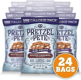Pretzel Pete Seasoned Mini Twist Pretzels, Salted Caramel, 0.8 Oz (Pack of 24)