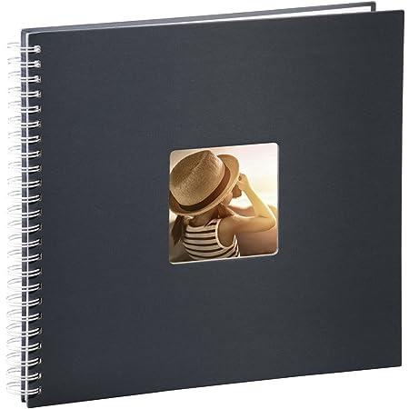 """Hama Album Photo """"Fine Art"""" (format 36 x 32 cm, 50 pages blanches, à spirale) Gris"""