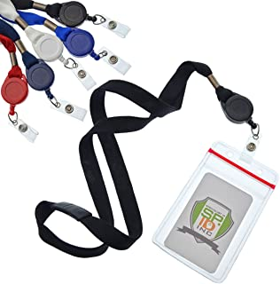 5 Pack Cruise Ship Lanyards (Family Pack) with Key Card Holders - Premium Breakaway Lanyards with Retractable Badge Reel & Vertical Heavy Duty Waterproof Card Holder by Specialist (Assorted Colors)