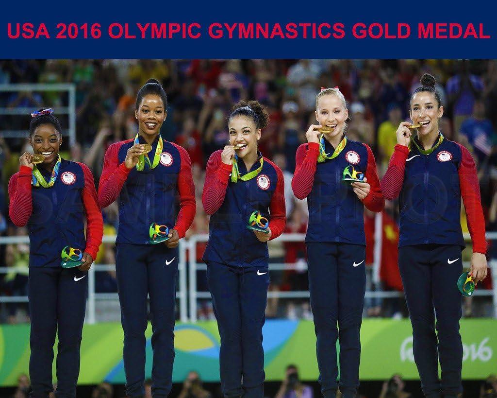Time sale SPORTSPHOTOSUSA USA 2016 Rio Olympic 8X10 New product type Medal Gold Gymnastics