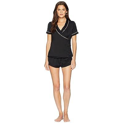 BLUEBELLA Kara Shirt and Shorts Pajama Set (Black) Women