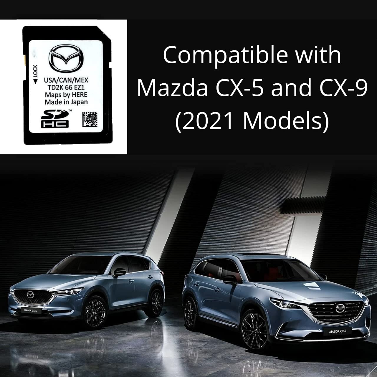 Latest 2021 Navigation Map GPS SD Card for Mazda CX-5 and CX-9   TD2K-66-EZ1   USA/CAN/MEX