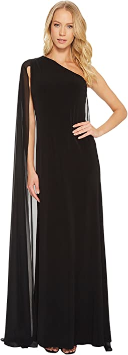 Calvin Klein - One Shoulder Cape Gown CD7B15FV