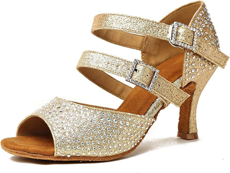 GL253 Damen Schnalle Flare Heel Gold Ballroom Tanzschuhe Kristall Hochzeit Sandalen UK 5 (Farbe   -, Größe   -)    Vielfältiges neues Design    Online-Shop    Outlet Store