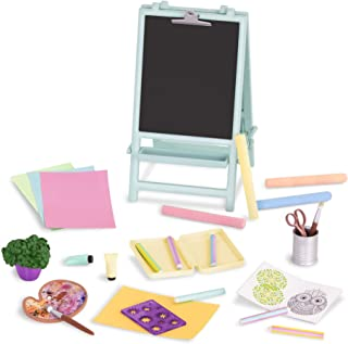 Glitter Girls by Battat – Creative Art Kit Chalkboard Easel Accessory Set – 14-inch Doll Clothes and Accessories for Girls...