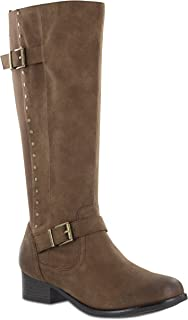 MIA AMORE Luise-W Women's Knee High, Color: Brown, Size: 10W