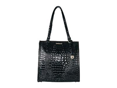 Brahmin Melbourne Large Caroline Satchel (Black) Bags