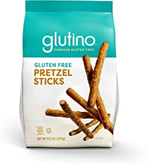 Glutino Gluten Free Pretzel Sticks, Delicious Everyday Snack, Lightly Salted, 8 Ounce