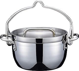 【燕三条製】TSBBQ ライトステンレス ダッチオーブン(無水鍋) 6インチ ミラー仕上げ TSBBQ-011