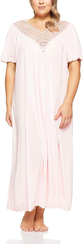 Shadowline Women's Plus-Size Beloved 53 Inch Flutter Sleeve Long Gown