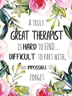 A truly great therapist is hard to find POSTER A3 Great Therapist Appreciation Gift Psychologist Office Room Wall Decor Art Print with Quote