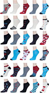 30-PAIR!!(0.79 a PAIR) Women's Neon No-Show Socks–Solid & Patterned–Size 9-11–Fun & Comfortable–Ideal Gift For Girls & Women