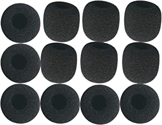 Canfon Lavalier Microphone Windscreens Replacement, 12 Pack Microphone Foam Covers, Mini Size, for Sony Boya Saramonic Maono.
