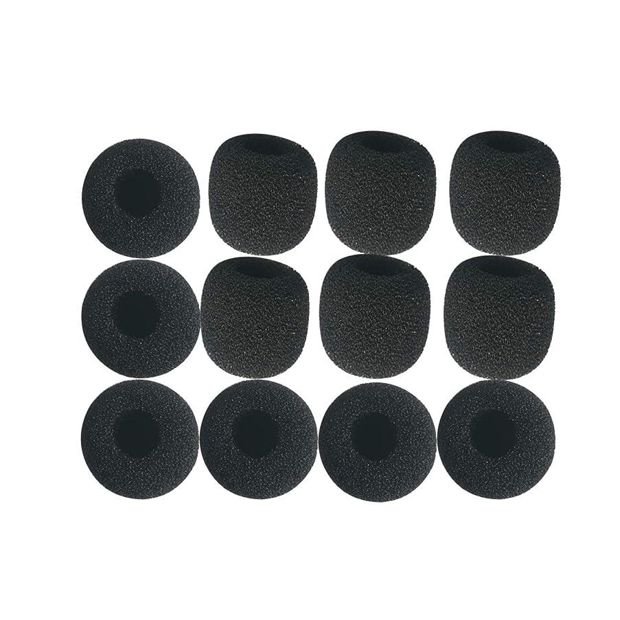 Canfon lavalier microphone windscreens, Microphone small foam covers, Mini Size, Pack of 12