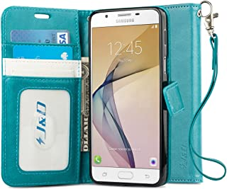 J&D Case Compatible for Galaxy J7 Prime SM-G610F Case, [Wallet Stand] [Slim Fit] Heavy Duty Protective Shock Resistant Fli...