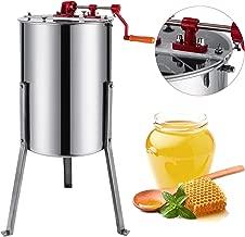 BestEquip Manual Honey Extractor 3 Frame Bee Extractor Stainless Steel Honey Spinner with Stand Beekeeping Equipment
