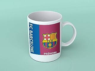 Mug tasse personnalisé FC Barcelone et prénom - Cadeau personnalisé pour les amateurs de foot - Tasse personnalisable et o...