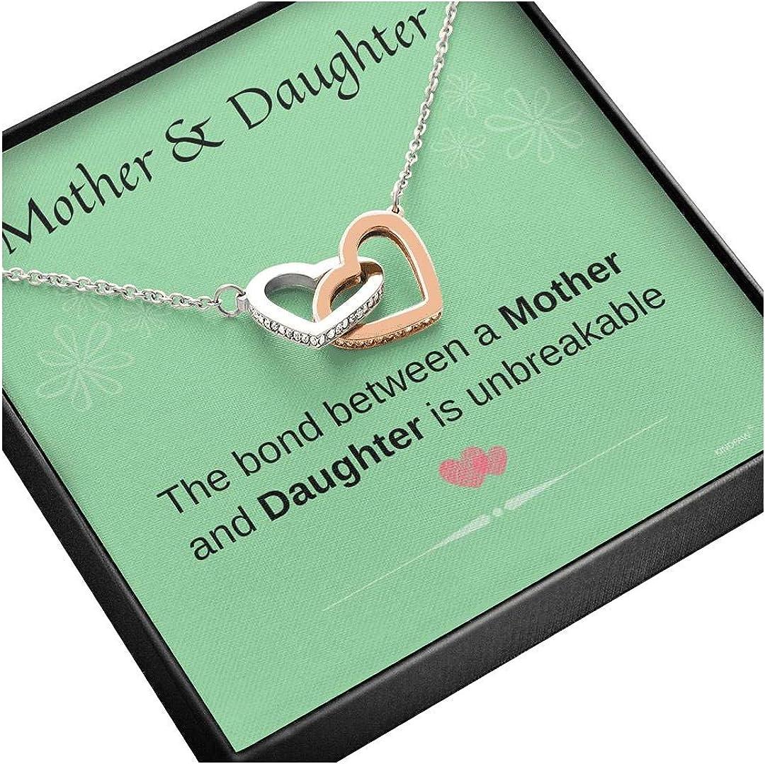 Genuine KINDPAW Mother Daughter Necklace Birthday Interlocking Hearts Challenge the lowest price -